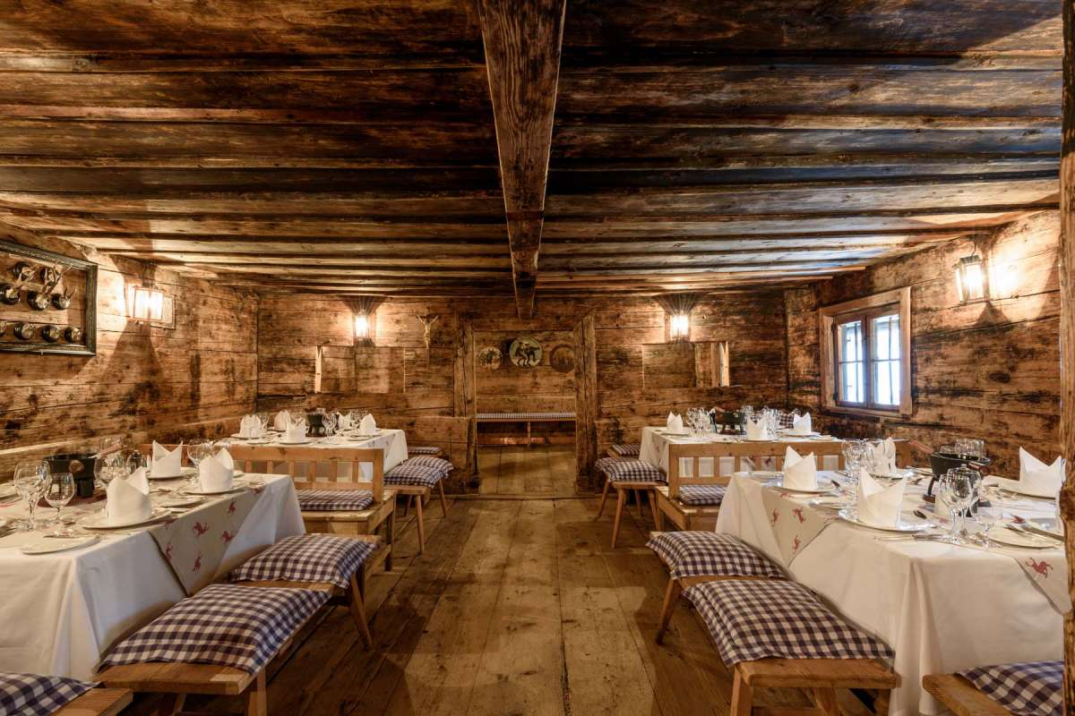 The restaurated traditional Troadkasten in Brauereigasthof Hotel Aying which now contains an restaurant